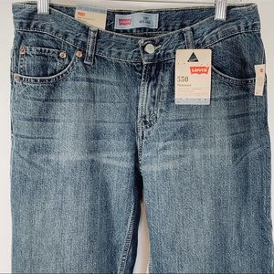 Levis 550 Boys 10 Husky Jeans Relaxed Fit Tapered